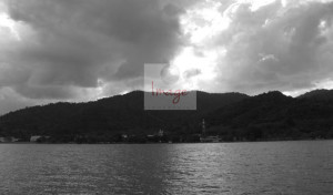 With Logo BLACK AND WHITE Down the islands 238