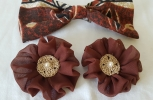 Rosette Hair Clips and Hair Bow