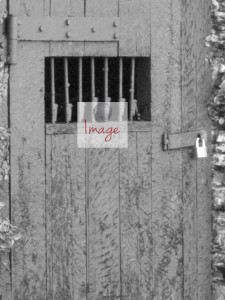 With Logo BLACK AND WHITE World War 2 Jail Cell